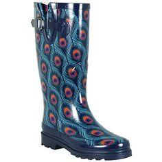 Peacock Rain Boots---i REALLY really like thesee!!!! :)))