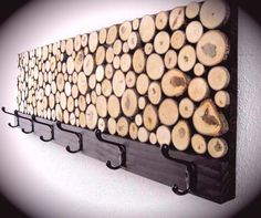 upcycled wood slices coat rack made any way you would like on Etsy, $45.00