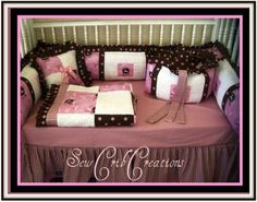 Pink and Brown John Deere Baby Bedding