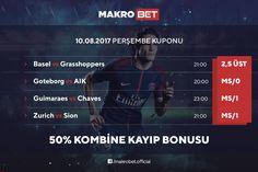 Günün Kombine Kuponu'nda %50 Kayıp Bonus'u Makrobet'te Detaylar için sitemizdeki bonuslar bölümünü ziyaret ediniz. http://makrobet2.com
