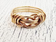 Love Knot Wire Wrapped Ring.