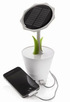 Sunflower solar charger