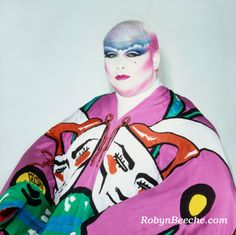 Divine, Photo by Robyn Beeche, illusionary makeup by Richard Sharah, kimono by Michael Vollbracht Leigh Bowery, Illustrator, John Waters, New Romantics, Club Kids, Comme Des Garcons, Retro, Les Oeuvres, Dreaming Of You