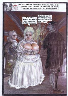 Seite 7- Das Rat suchende Adelspaar wird vom Abt empfangen.