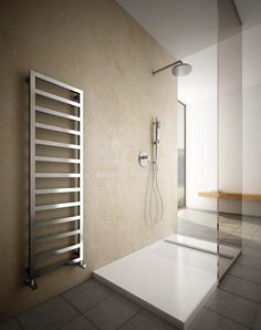 Hot water towel radiator / metal / contemporary / vertical - UPPER ALU - HOX