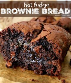 Hot Fudge Brownie Bread is SO ooey, gooey and delicious. A chocolate lovers dream!!