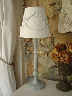 Les abat jour romantiques et shabby chic, romantic and shabby lampshades | Le Grenier d'Alice