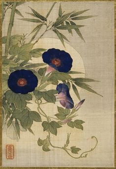 Painting on silk by Okamoto Shuki, 19th century.
