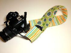 Dslr Camera Strap Slipcover with Lens Cap Pocket  by KallieLilyS