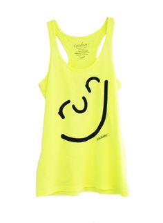 Endure Tanks: Run Happy Face Tank: Running Apparel #EndureJewelry #Motivation #Smile