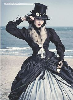 What exactly is Steampunk fashion? We take a dive into the history of the movement and one of its most beautiful elements: The Steampunk Corset. Moda Steampunk, Steampunk Couture, Steampunk Corset, Steampunk Design, Gothic Corset, Victorian Steampunk, Steampunk Clothing, Steampunk Fashion, Victorian Fashion