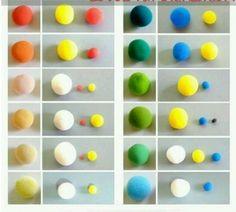 Как сделать бежевый цвет из полимерной глины