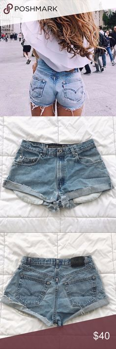 """Perfect vintage Levi's High Waisted Shorts Adorable vintage Levi's silver tab shorts. Similar to brandy melville and john galt shorts. Vintage. Perfect for summer! High waisted with a cuffed edge and a perfect light blue wash. Cute pockets peeking out. Waist measures as 30 inches  Measurements Waist: 15"""" Hips: 21"""" Rise: 11""""  ⭐️ Top-rated seller! 💌 All items ship same or next day 🎀 Free stickers with purchase  📩 All reasonable offers considered!  💖 15% discount on Bundles!   Feel free to…"""