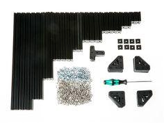 OpenBeam Precut Basic Kit - Black