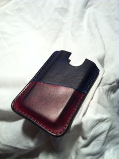 Leather phone wallet by SixShotsOrFive on Etsy, $40.00