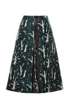 Bonded Silk Nature Printed Skirt by Marni - Moda Operandi