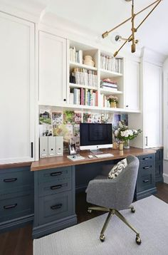 Top Inspiring Home Office Decorating Ideas – Page 17 of 20 – Home Office Design Corner Office Nook, Guest Room Office, Home Office Space, Bedroom Office, Home Office Design, Home Office Decor, House Design, Home Decor, Home Office Furniture Ideas
