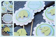Elephant Baby Shower  Birthday Party Set   by MLPaperCreations, $36.00