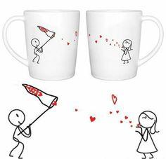 männer kaffee porzellan tassen valentinstag
