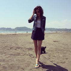 #シェアInstagram 鎌倉でも大活躍♡  誕生石が付いたビーチサンダル。  #soleilbypuputier