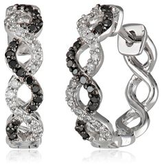 White-Gold Black and White Diamond Earrings (0.33cttw, G-H Color, I1-I2 Clarity)by Amazon Collection - See more at: http://blackdiamondgemstone.com/jewelry/earrings/whitegold-black-and-white-diamond-earrings-033cttw-gh-color-i1i2-clarity-com/#sthash.E8KrEU48.dpuf