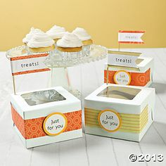 easy way to decorate cupcake boxes