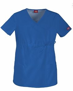 A Junior fit maternity mock wrap top features a front adjustable drawstring, patch pockets, multi-sectional utility loops and side vents. Please look at our current selection of maternity scrubs. Maternity Scrubs, Maternity Tops, Maternity Fashion, Maternity Styles, Cute Scrubs, Scrub Tops, Black Tops, Short Sleeve Dresses, Dresses For Work