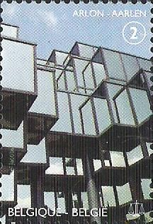 belgian stamps Palaces for Justice. Arlon