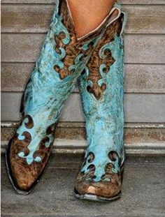 Gimme turquoise boots