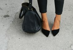 Black point shoes