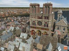 Reconstrucción 3D del París de 1550