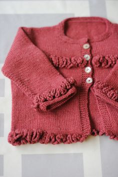 Ruffles Sweater for infant Quince and CO yarns pattern PDF Beautiful!