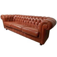 Tan Chesterfield Tufted Sofa | From a unique collection of antique and modern sofas at http://www.1stdibs.com/furniture/seating/sofas/