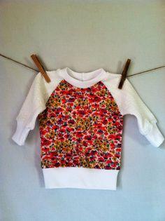 Vintage Floral Polyester TShirt  handmade infant baby by yorkpatty, $26.00 www.yorkpatty.etsy.com