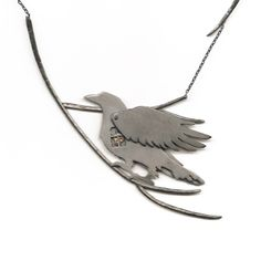 Hidden Window Raven Necklace by Susan Elnora. American Made. 2013 Buyers Market of American Craft. americanmadeshow.com