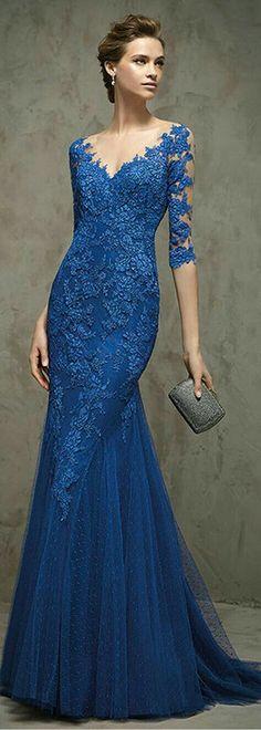 79eff832d Vestido Chique, Vestido Da Mãe, Vestido De Luxo, Vestido Madrinha, Vestido  De