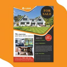 Real Estate Flyers, Real Estate Services, Environmental Posters, Flyer And Poster Design, House Vector, Clipart Images, Global Warming, Background Images, Clip Art