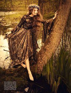 Eniko Mihalik | Ellen von Unwerth | Vogue Italia June 2012 | 'So Full ofDreams' - 3 Sensual Fashion Editorials | Art Exhibits - Anne of Carversville Women's News