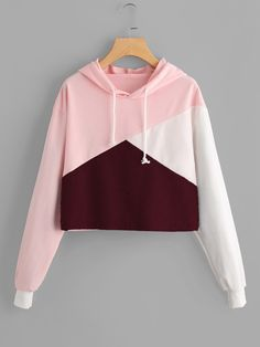 Cheap hoodie drawstring, Buy Quality cropped hoodie directly from China crop sweatshirt Suppliers: sweatshirt wome hoodies Cut Sew Patchwork Crop Hoodie Drawstring Crop Sweatshirt Jumper Pullover Top sudaderas mujer moletom Crop Top Hoodie, Cropped Hoodie, Teen Fashion Outfits, Trendy Outfits, Cute Outfits, Ootd Fashion, Harajuku, Cute Crop Tops, Hoodie Sweatshirts