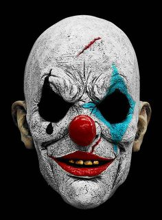 Clown Horror Mask made of latex Clown Horror, Arte Horror, Horror Art, Joker Makeup, Mask Makeup, Evil Clowns, Scary Clowns, Scary Clown Mask, Creepy Masks