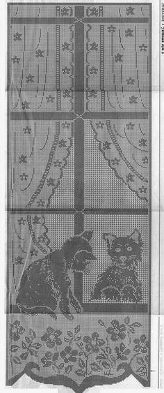 Tenda, schema   Danteller   Pinterest   Crochet, Crochet curtains ...