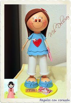 Mil Delicias: ♥ Fofucha niña corazón