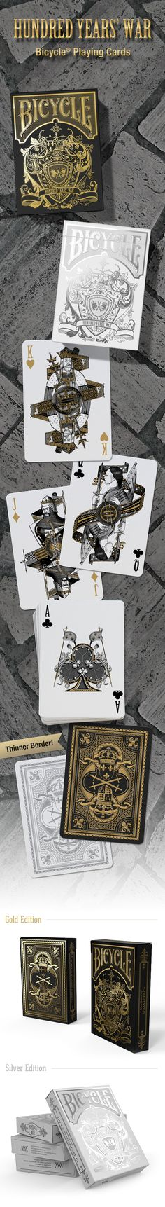 Classy : Bicycle Hundred Years' War Playing Cards