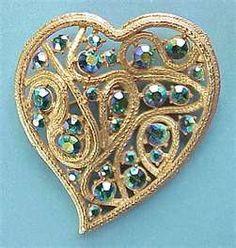 ~ Blue Topaz Heart Pin ~