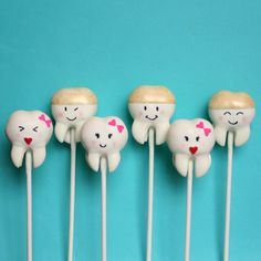 12 Sweet Teeth Cake Pops for Tooth Fairy by SweetWhimsyShop, $39.00