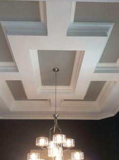 Startling Cool Ideas: False Ceiling Bathroom Home false ceiling tiles dining rooms.False Ceiling With Fan false ceiling design minimalist.False Ceiling With Fan. Trey Ceiling, Ceiling Trim, Gypsum Ceiling, Ceiling Detail, Home Ceiling, Ceiling Decor, Ceiling Beams, Coffered Ceilings, Ceiling Plan