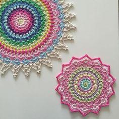 I keep spotting beautiful crocheted mandalas...