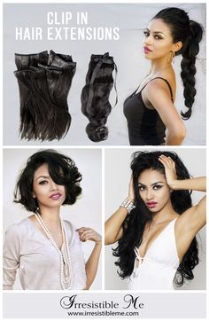 Want to add more length or volume to your hair? Make it look natural with Irresistible Me 100% natural Remy human hair clip-in extensions. Great selection of colors. Free returns and exchanges, worldwide delivery. Sign up and get unbeatable prices and exclusive discounts. Prices start at $49 between September 25 - December 31 2015.