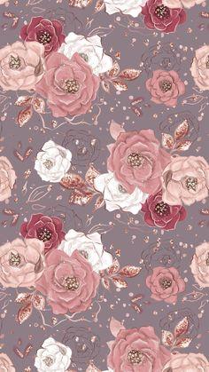 Rose Gold Wallpaper, Tumblr Wallpaper, Cute Wallpaper Backgrounds, Cellphone Wallpaper, Flower Backgrounds, Pretty Wallpapers, Screen Wallpaper, Flower Wallpaper, Pattern Wallpaper