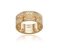 0772cf78f Gucci Gold & Cognac Diamond Icon Stardust Band #dsw #Luxe810 Gucci  Bracelet,